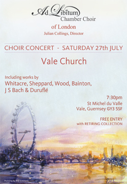Ad Libitum Chamber Choir flyer July 2013