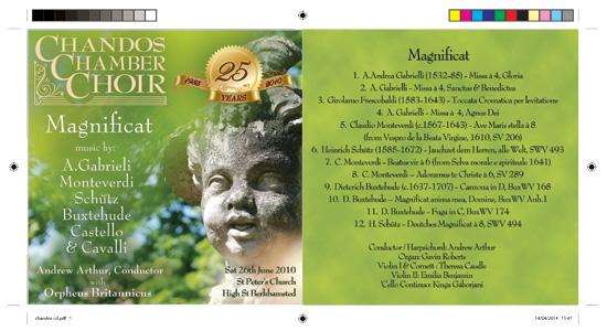 Chandos Chamber Choir 25th anniversary CD