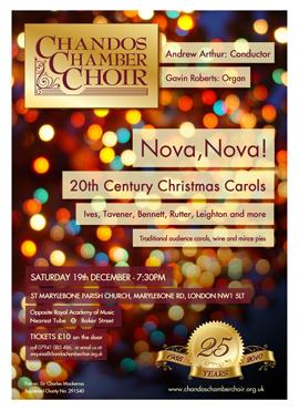 Chandos Chamber Choir flyer winter 09