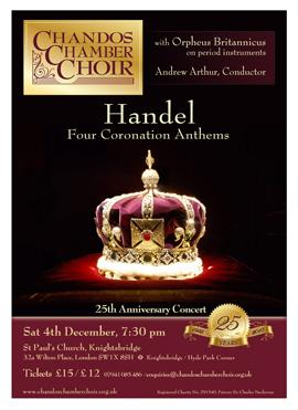 Chandos Chamber Choir flyer winter 10