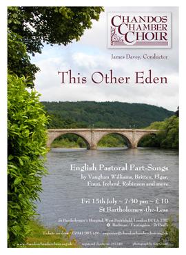 Chandos Chamber Choir flyer summer 11