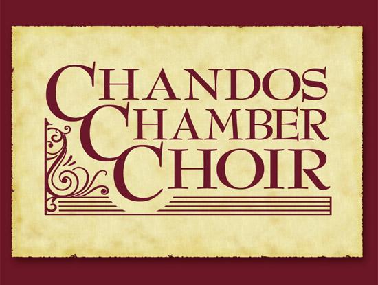 Chandos Chamber Choir logo on parchment