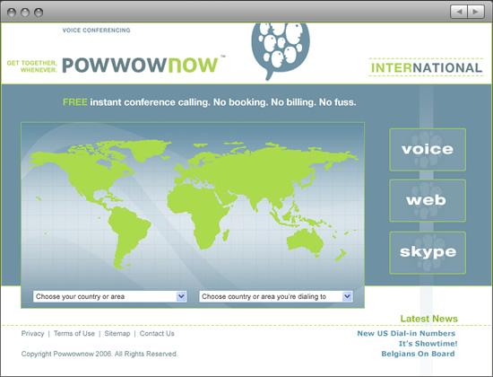 Powwownow website International page